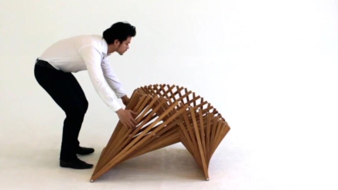 Krzesło, które w sekundę zamienisz w stolik? Niezwykłe mebli i kreatywności