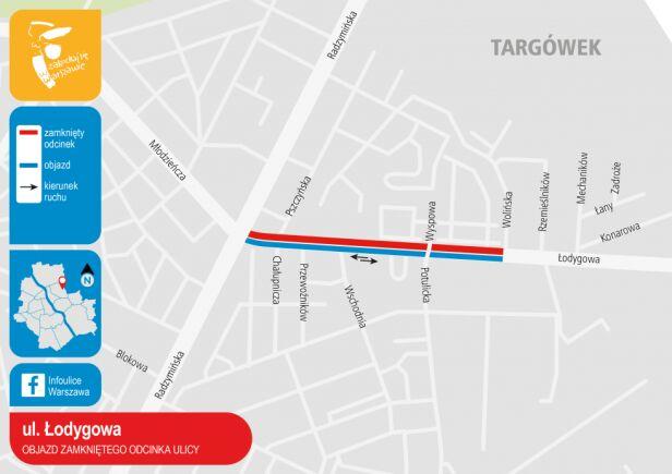 Ulica Łodygowa, zmiany 22-27 sierpnia UM