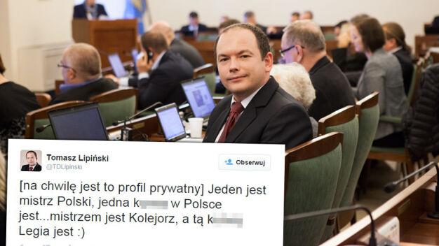 Poznański radny: mistrzem jest Kolejorz, a ku**ą Legia jest