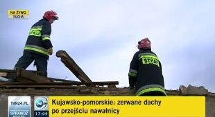 Trąba powietrzna zniszczyła gospodarstwo, lipiec 2012 (TVN24)